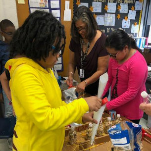 Bird Feeder Project Helps to Teach Hillcrest Students About Recycling