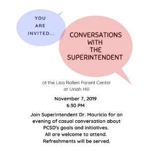 Conversations with the Superintendent Set for 11/7