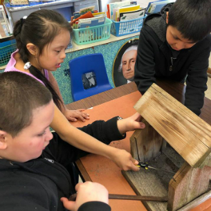 Hillcrest Students Create Bird Houses for Peekskill Seniors