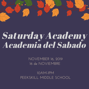 Saturday Academy Returns to PKMS on November 16