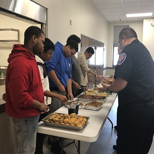 PHS Culinary Students Prepare Lunch for Peekskill Professional Firefighters