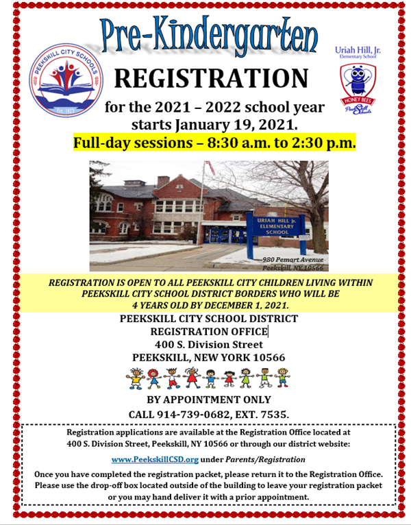 Pre K Registration Flyer
