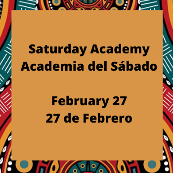 Saturday Academy (A Virtual Event)