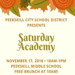 Saturday Academy Returns to PKMS on November 17