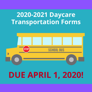 2020-2021 Transportation Request Forms Due April 1, 2020