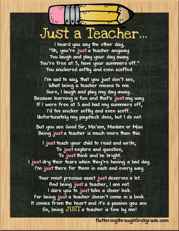 just a teacher