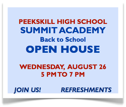 Open House Wednesday, August 26