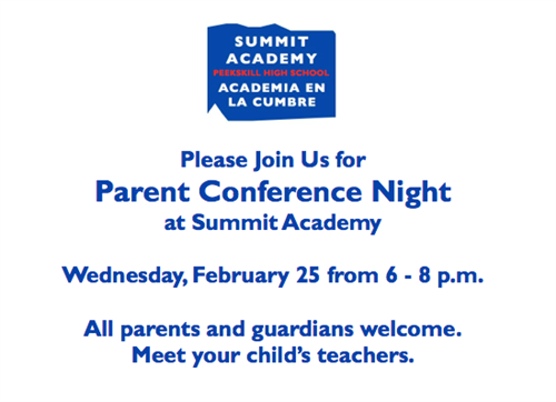 Parent Conference Night at Summit.