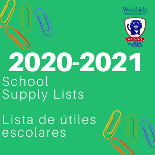 2020-2021 Woodside Supply Lists